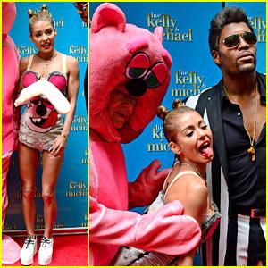 Kelly Ripa: Miley Cyrus VMAs Halloween Costume with Michael Strahan as Robin Thicke!