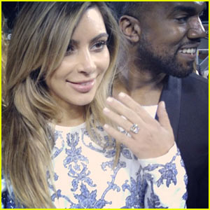 Kim Kardashian's Engagement Ring - Check Out the Huge Rock!