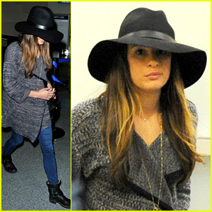 Lea Michele Jets Out of Los Angeles After Haunted Hayride Fun!