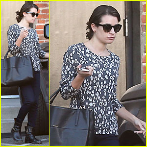 Lea Michele: Recording Studio Stop Before Glee's Cory Monteith Tribute Episode Airs