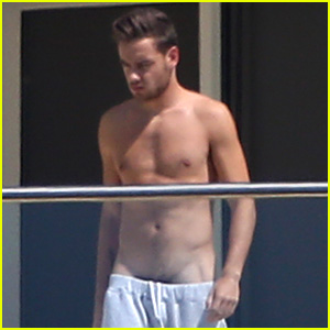 Liam Payne Wears Underwear Super Low on Hotel Balcony