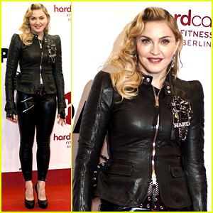 madonna hard candy fitness club opening in berlin madonna just jared. Black Bedroom Furniture Sets. Home Design Ideas