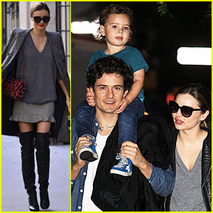 Miranda Kerr, Orlando Bloom, & Flynn: Family Fun Evening ... Orlando Bloom And Miranda Kerr Baby Flynn 2013