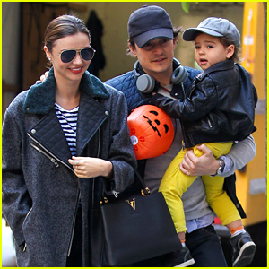 Orlando Bloom & Miranda Kerr: Happy Halloween with Flynn!