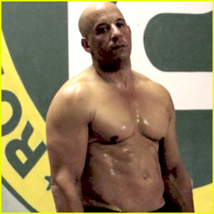 Vin Diesel Flaunts Ripped Shirtless Body for Combat Training