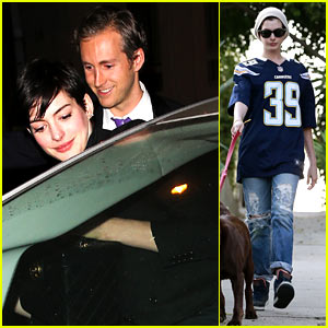 Anne Hathaway: Early Birthday Celebration with Adam Shulman!