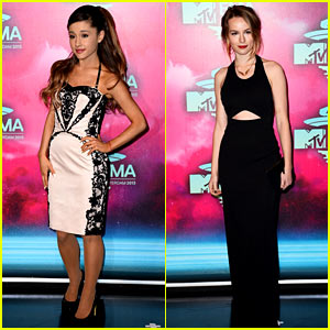 Ariana Grande & Bridgit Mendler - MTV EMA 2013 Red Carpet