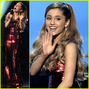 Ariana Grande Sings 'Tattooed Heart' at AMAs 2013 (Video)