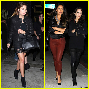 Ashley Benson & Shay Mitchell: 'Pretty Little Liars' Wrap Party!