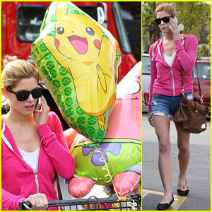 Ashley Greene Buys Party Supplies & Big Cartoon Balloons!