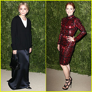 Ashley Olsen & Julianne Moore: CFDA Fashion Fund Finalists Celebration!