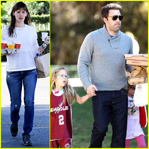 Ben Affleck & Jennifer Garner: Busy Sunday with the Girls!