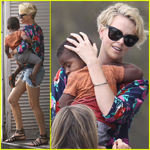 Charlize Theron: Sydney Outing with Her Little Man Ja