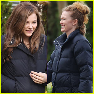 Chloe Moretz: First Day on 'If I Stay' Set!
