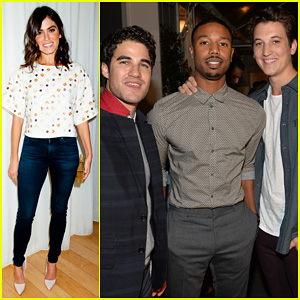 Darren Criss & Michael B. Jordan: Blue Jeans Go Green Party!