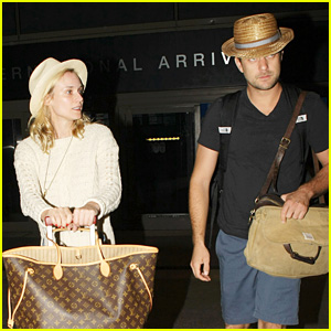 Diane Kruger & Joshua Jackson Arrive Home from Cabo Trip