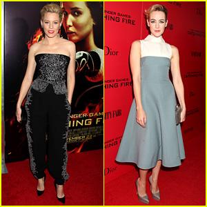 Elizabeth Banks & Jena Malone: 'Catching Fire' NYC Premiere!