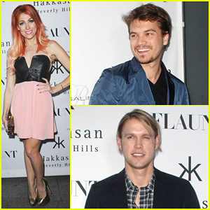 Emile Hirsch & Chord Overstreet: 'Flaunt Magazine' Launch Party!