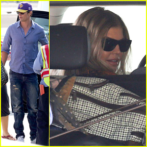 Fergie & Josh Duhamel: Private Flight After LACMA Art & Film Gala
