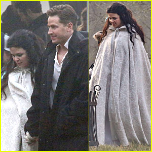 Ginnifer Goodwin Covers Baby Bump on 'Once' Set!