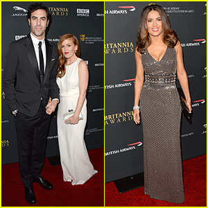 Isla Fisher & Sacha Baron Cohen - BAFTA Britannia Awards 2013 Red Carpet