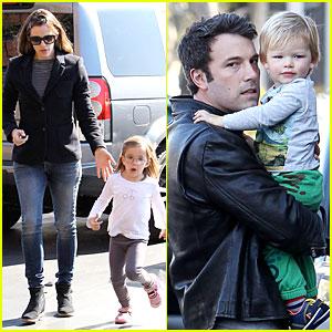 Jennifer Garner & Ben Affleck: Gymnastics Saturday with the Kids!