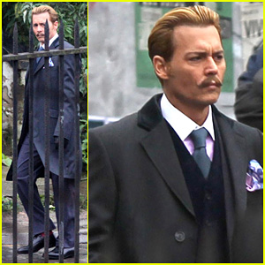 Johnny Depp Begins Filming 'Mortdecai' in London!