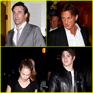 Jon Hamm Dines with Sean Penn & His Kids Dylan & Hopper!
