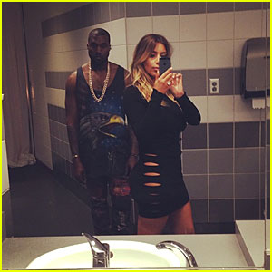 Kim Kardashian: Bathroom Selfie with Kanye West!