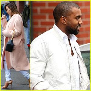 Kim Kardashian & Kanye West Visit Big Apple for 'Yeezus Tour'