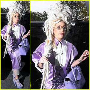 Lady Gaga Wears Huge White Wig for 'SNL' Rehearsals!