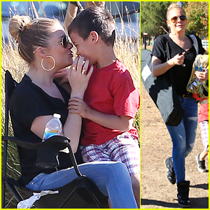 LeAnn Rimes: Soccer Game with Mason & Jake!