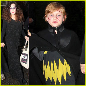 Liv Tyler Trick-or-Treats with Son Milo on Halloween!