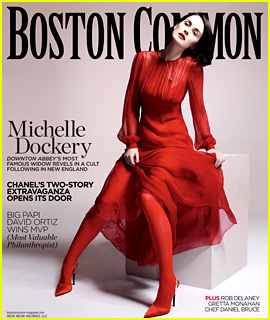 Michelle Dockery Covers 'Boston Common' Holiday Issue