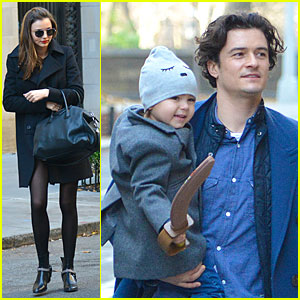 Miranda Kerr: Flynn Enjoys Watching Orlando Bloom on Stage!