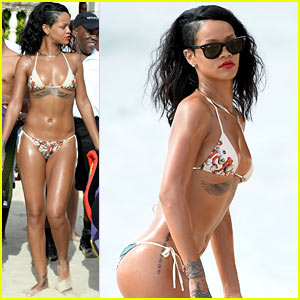 Rihanna Shows Off Fabulous Body in St