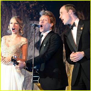 Taylor Swift, Prince William, & Bon Jovi Sing Together On Stage!