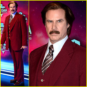 Will Ferrell as Ron Burgundy - MTV EMA 2013 Red Carpet