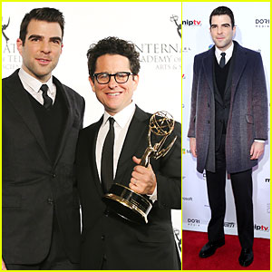 Zachary Quinto Honors J.J. Abrams at International Emmys