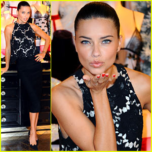 Adriana Lima Celebrates Victoria's Secret's New London Store!