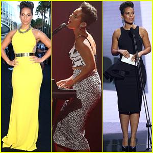 Alicia Keys Rocks Three Dresses at Aria Awards 2013!