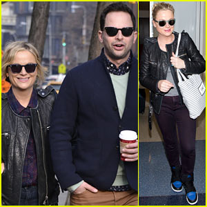 Amy Poehler Strolls with Nick Kroll Before Gotham Awards