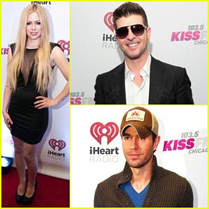 Avril Lavigne & Robin Thicke: 103.5 KISS FM's Jingle Ball 2013!