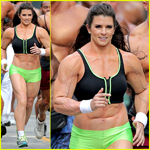 Danica Patrick: Crazy Buff for Go Daddy Super Bowl Commercial!