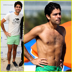 Entourage's Adrian Grenier: Shirtless Miami Beach Day!