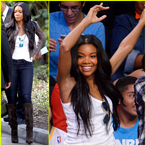 Gabrielle Union Cheers on Fiance Dwyane Wade at Heat Game!