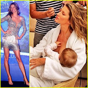 Gisele Bundchen Shares Breastfeeding Pic Before Oral B Event