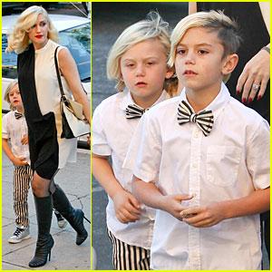 Gwen Stefani: Christmas Eve Mass with Matching Boys!