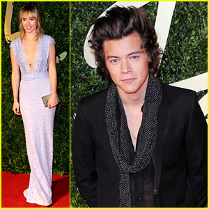 Harry Styles & Suki Waterhouse - British Fashion Awards 2013