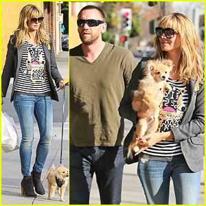 Heidi Klum & Martin Kirsten: Doggie Styles with  Buttercup!